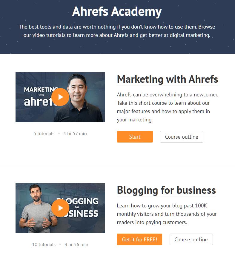 The Ahrefs Academy.